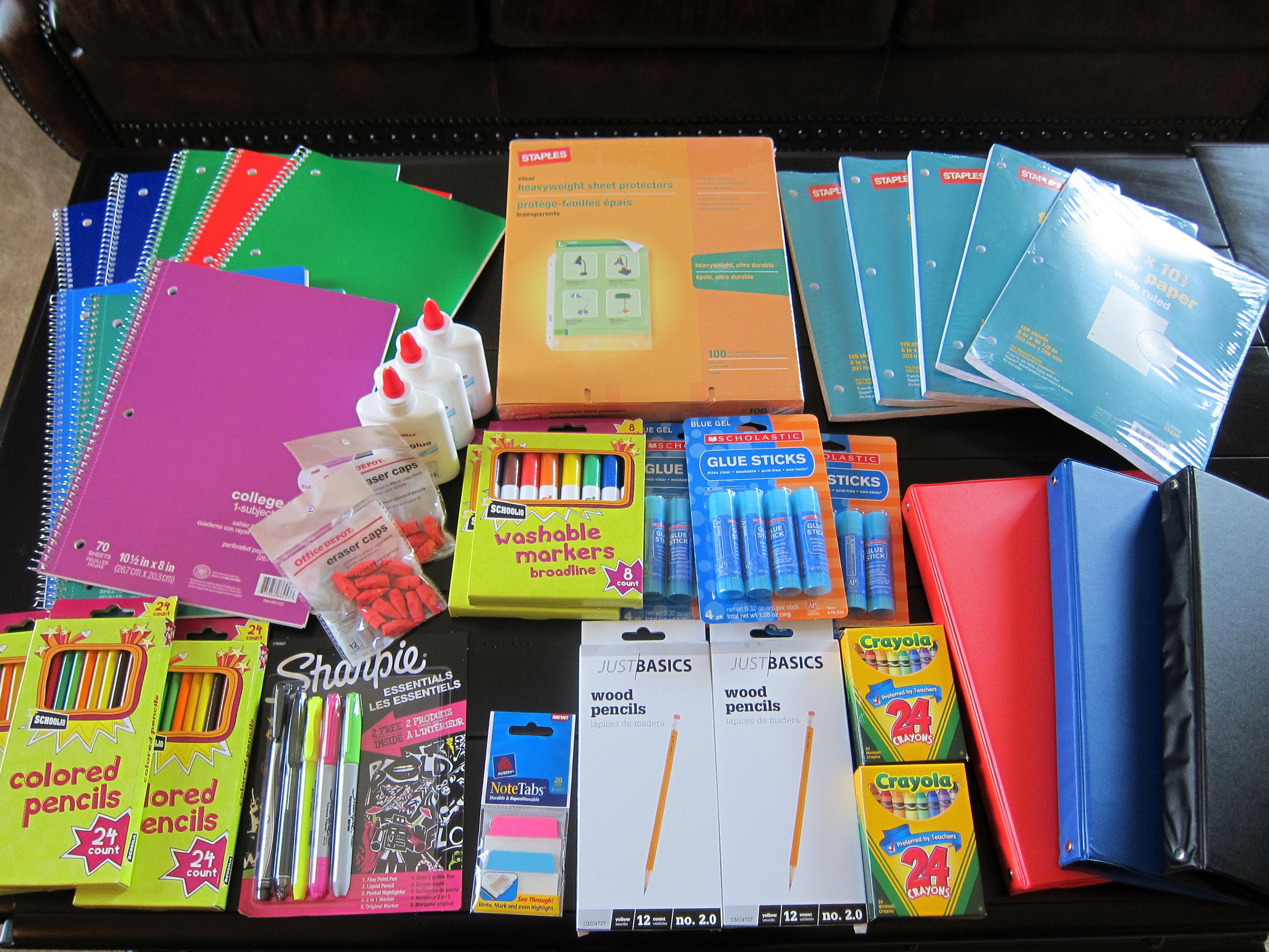 megan mondays a day of miracles school supplies - Suplies